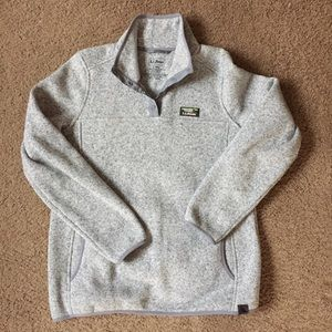LL Bean Gray Sweater Fleece Pullover